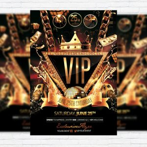 VIP Party - Premium Flyer Template + Facebook Cover
