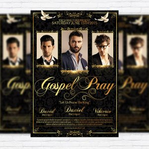Gospel Pray - Premium Flyer Template + Facebook Cover