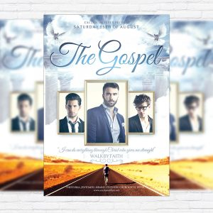 The Gospel - Premium Flyer Template + Facebook Cover
