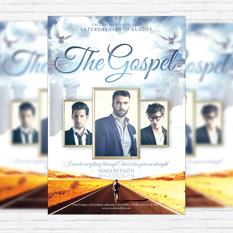 the gospel premium flyer template facebook cover