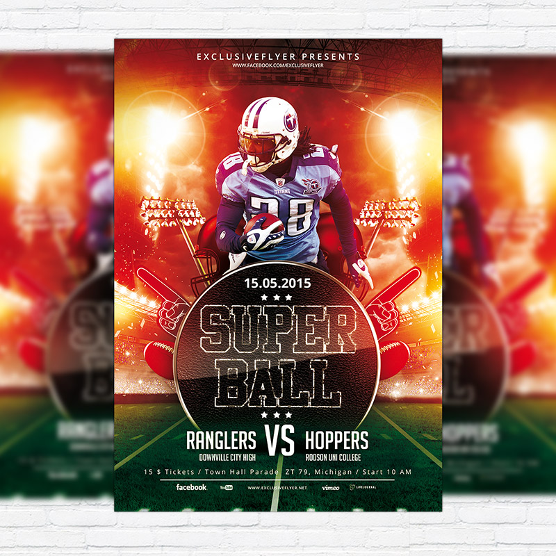 super ball premium flyer template facebook cover exclsiveflyer