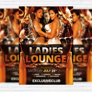 Ladies Lounge - Premium Flyer Template + Facebook Cover