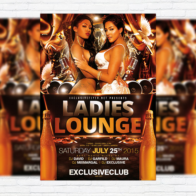 Ladies Lounge – Premium Flyer Template + Facebook Cover