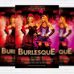 Burlesque - Premium Flyer Template + Facebook Cover