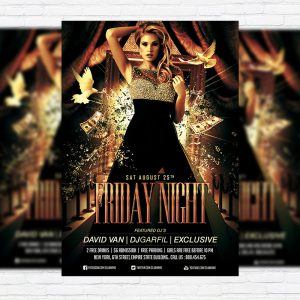Friday Night - Premium Flyer Template + Facebook Cover