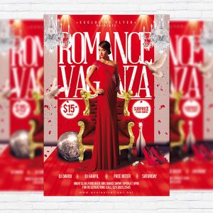 Romance Vaganza - Premium Flyer Template + Facebook Cover