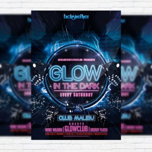 Glow Party - Premium PSD Flyer Template