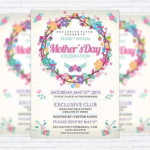 Mother's Day - Premium Flyer Template + Facebook Cover