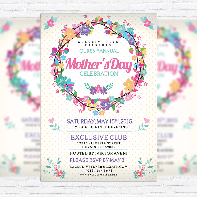 mother s day premium flyer template facebook cover