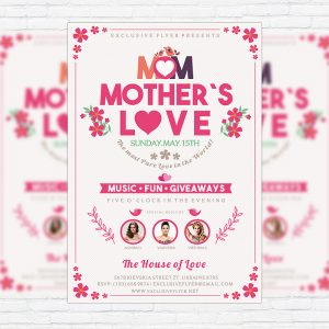 Mother's Love - Premium Flyer Template + Facebook Cover