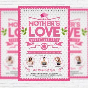 Mother's Love Vol.2 - Premium Flyer Template + Facebook Cover