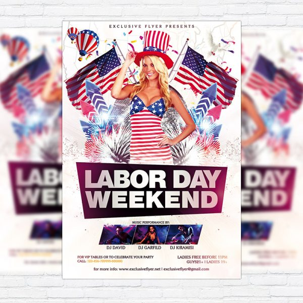 Labor Day Weekend - Premium Flyer Template + Facebook Cover