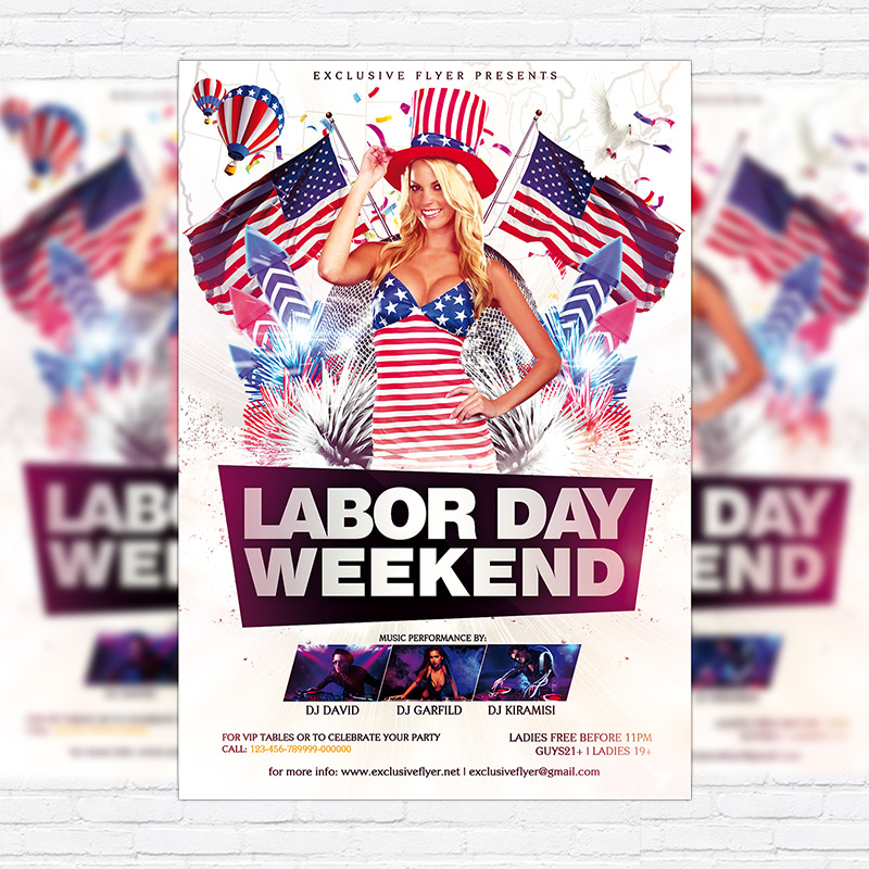 labour day flyer template