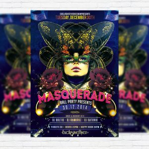 Masquerade Ball Party - Premium PSD Flyer Template