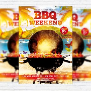 BBQ Weekend - Premium Flyer Template + Facebook Cover