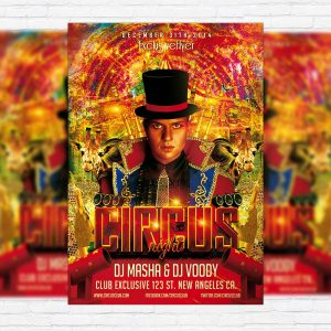 Circus Night - Premium PSD Flyer Template