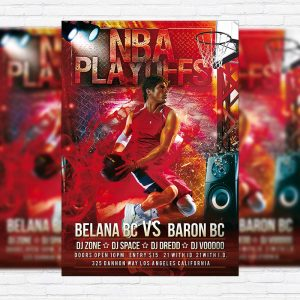 NBA Playoffs - PSD Flyer Template