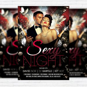 Sexy Night Vol.2 - Premium Flyer Template + Facebook Cover