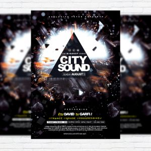 City Sound - Premium Flyer Template + Facebook Cover