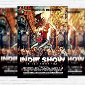 Indie Show - Premium Flyer Template + Facebook Cover