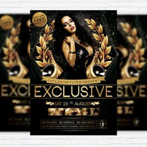 Exclusive Party - Premium Flyer Template + Facebook Cover