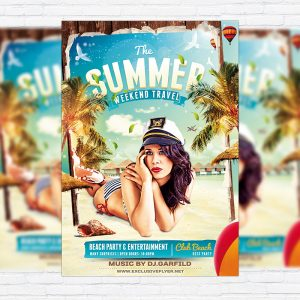 The Summer - Premium Flyer Template + Facebook Cover