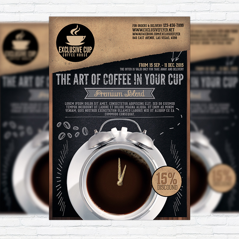 Coffee Shop – Premium Business Flyer Psd Template | Exclsiveflyer