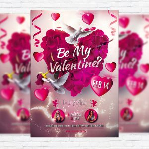Be My Valentine - Premium PSD Flyer Template