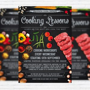 Cooking Lessons - Premium Business Flyer PSD Template