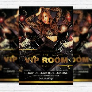 The VIP Room - Premium Flyer Template + Facebook Cover