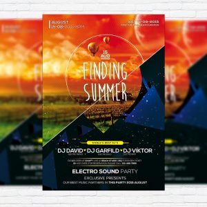 Finding Summer - Premium Flyer Template + Facebook Cover