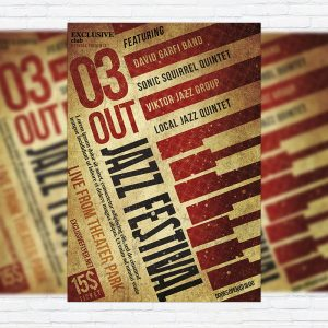 Jazz Festival Vol.2 - Premium Flyer Template + Facebook Cover