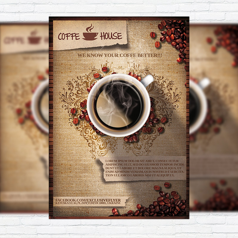 Coffee Shop Vol  Premium Business Flyer Psd Template
