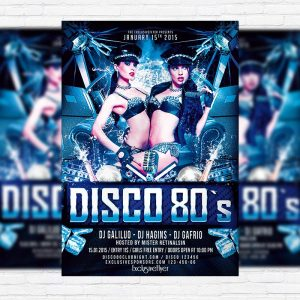 Disco 80's - Premium PSD Flyer Template