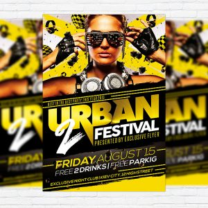 Urban Festival - Premium Flyer Template + Facebook Cover