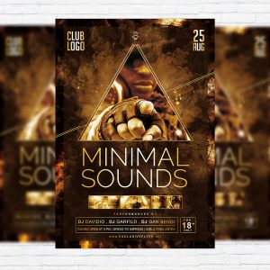 Minimal Sounds Vol.3 - Premium Flyer Template + Facebook Cover