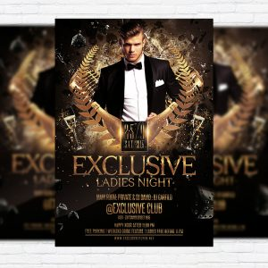 Exclusive Ladies Night - Premium Flyer Template + Facebook Cover