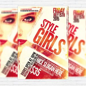 Style Girls - Premium Flyer Template + Facebook Cover