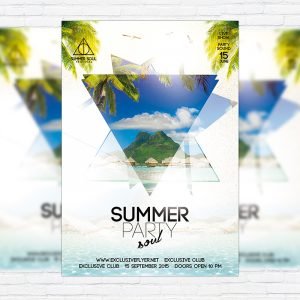 Summer Soul Party - Premium Flyer Template + Facebook Cover