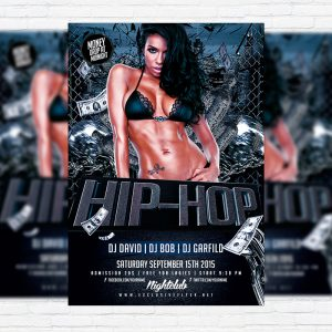 Hip Hop Party - Premium Flyer Template + Facebook Cover