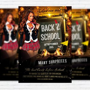 Back To School Vol.2 - Premium Flyer Template + Facebook Cover