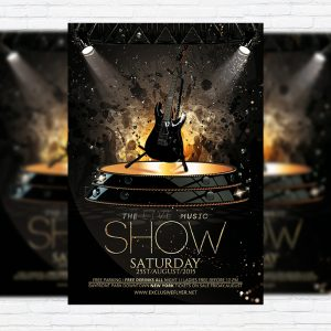 The Live Music Show - Premium Flyer Template + Facebook Cover