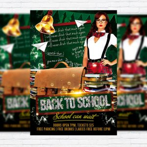 Back To School Vol.3 - Premium Flyer Template + Facebook Cover