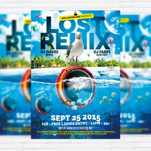 Lost Remix - Premium Flyer Template + Facebook Cover