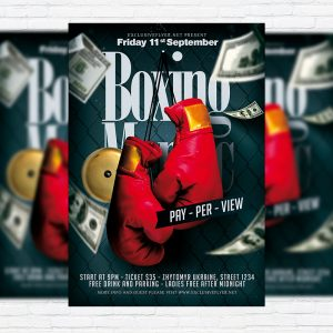 Boxing Maniac - Premium Flyer Template + Facebook Cover