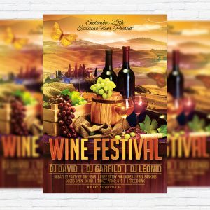 Wine Festival - Premium Flyer Template + Facebook Cover