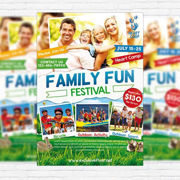 Family Day - Premium PSD Flyer Template