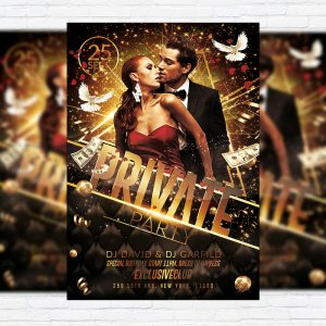 Private Party Vol.2 - Premium Flyer Template + Facebook Cover