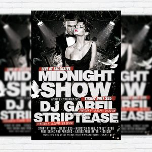 Midnight Show - Premium Flyer Template + Facebook Cover