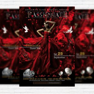 Passionate - Premium Flyer Template + Facebook Cover